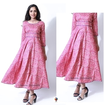 Instantly light up your day in our Pink Paisley Dress. It features a contrast blue piping to bring out the design of the dress. 🌸  Shopping link in bio 💕 COD Available @ www.gulaalcreations.com  #gulaalcreations #gulaaloutfit #newcollection #newprints #paisleyprint #cotton #pink #pinklove #dreess #ootdstyle #productoftheday #fashionpost #blogger #summerstyle   #onlineshopping #shopnow