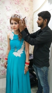 hairstyling done by Anuj Kumar