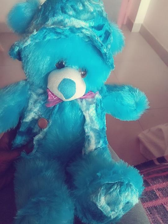 Blue love #coz of u #blue teddy #valentinesdayspecial