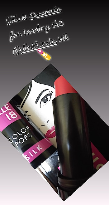 #elle18 silk lipstick sent by #woop R02 a perfect wearable orangeyred shade