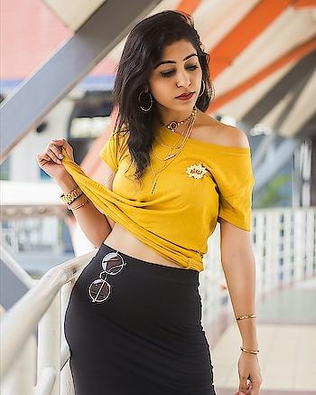 #ootd #potd #yellow #ajio #forever21 #shoot #shootday #shootdiaries #ansalplaza #brandshoot #collaboration #smokeyeyes #roposo #soroposo #soroposogirl