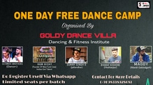 one day free dance workshop  organised by Goldy dance villa dancing & fitness institute   #dance