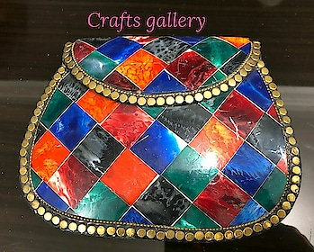 Metal Purse with Multicolored Inlay Work for Sale.  #purse #pursecollection #accessoriesoftheday #accesorize #accessorieslove #fashion #fashionables #fashionaccessories #fashionjewellery #clutchbag #clutch #clutchesforwomens #fashionistagram #fashioinistas #fashionista #in fashion 💖 #streetstyle fashion #indianjewellery #jewellerysale