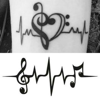 Guys.. Planning to get inked.. Which one do you think is cool? Any new ideas are welcome! I want a music based tattoo.. Please help! Thank you!  #confused #tattoo #tattooideas