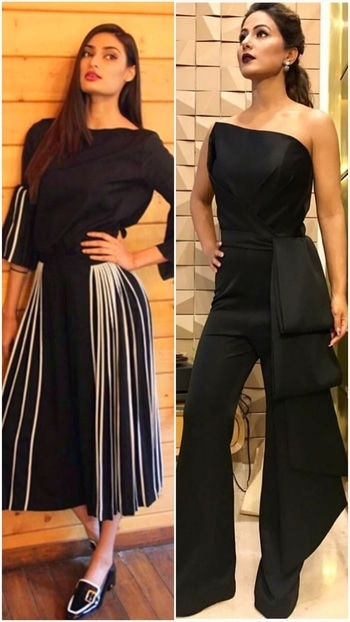 💜STYLE ON MY MIND 💜 In world full of trends I want to remain a classic.@athiyashetty @hinakhan.Nothing to fault ,loving hina's berry lips.😚😚😚  #glamand style #fashionpost #fashionblogger #fashionstatement #fashiondiva #fashionbloggerindia #Glamdiva #chicstyle #blackdresses#westernwear #roposoblog #roposofashionblogger #ropo-style #roposo-fashiondiaries #roposofashionbloggernetwork #delhiblogger #delhifashionblog #delhifashionbloggernetwork #bollywoodactress  #styleonmymind