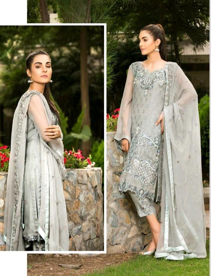 Maryam empereus chiffon embroidered suits Book on 09831663759  #httpswwwfacebookcompakistanisuitsandkurtis