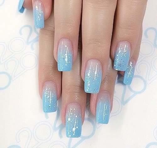 #blue#coolfashion #nail art