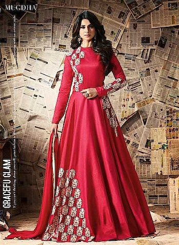 *Looking For Perfect Dress…Red Pari Anarkali Dress Is Here…#*  Catalog Name : Mugdha D-11941  Fabric : Top-Pure Bangalory Silk, Bottom-Santoon, Dupatta-Chiffon  Size : Top-4.50 Mtr, Bottom-2.20 Mtr, Dupatta-2.25 Mtr  Type : Semi-Stitched  Availability : Free Size  Occasion : Casual, Party, Festival And Reception  Wash care : First Time Dry Clean  *Price : ₹1740 /-*