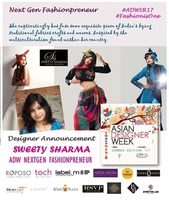 Asian Designer Week Summer Edition 17 introduces our NextGen Fashionpreneur Sweetysharma She captivatingly has fuse some exquisite piece of India's dying traditional fabrics crafts and weaves. Inspired by the multiculturalism found within her country. #ADW #ADWSR17 #NorthEast #asian