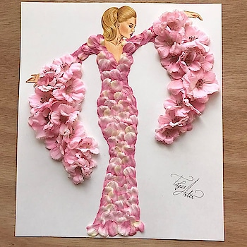 designer dress #designercollection #dress #illustration #flowers #dress