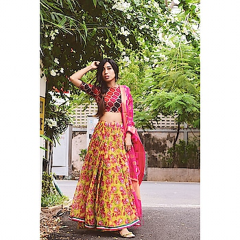 Styling my Not-So-Fav Saree Look 1 - Wearing the saree over a Maxi Skirt, pleated and tucked into it, to give a lehenga look. Completing the look with a self designed blouse and a dupatta. What do you think?  . . . . . . . . . . . . . #sareestyling #indianlook #ethniclook #chennaifashionista #chennaifashion #floralsaree #loveethnic #sareelove #restyle #reuse #styling #fashion #style #sareestyle #ethnic #indian #floral #sareelehenga #chennaiblogger #chennai #sareenotsorry #sareelover #yellowsaree #indianlook #experimentalfashion